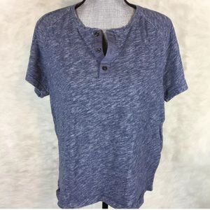 Vince Short Sleeve Popover Top T-Shirt Stretch